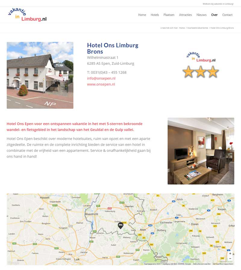 Vakantie in Limburg - Advertentie Brons
