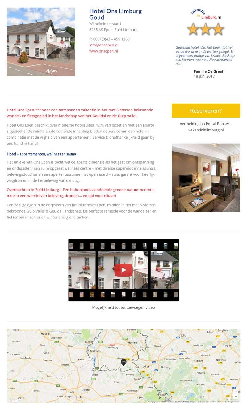 Vakantie in Limburg - Advertentie Goud