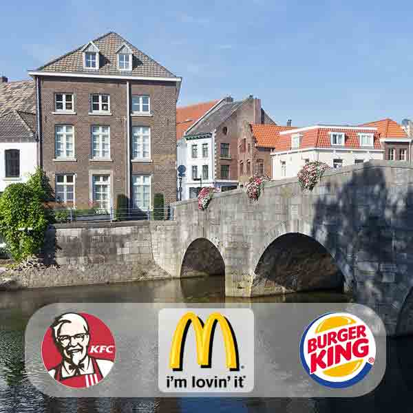 Roermond fastfoodhoofdstad van Nederland - Vakantie in Limburg