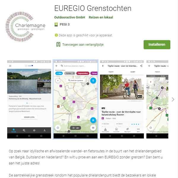 Op pad in de grensregio met de app 'EUREGIO Grenstochten'