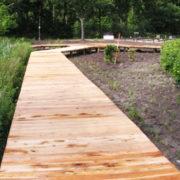 Start aanleg knuppelpad - Vakantie in Limburg